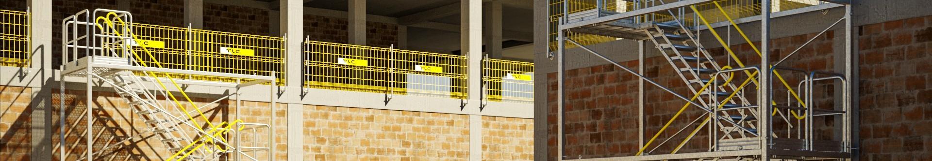 Tymczasowe schody na budowie, zewnętrzne, mobilne, modułowe - wynajem | Sklep internetowy TLC Rental
